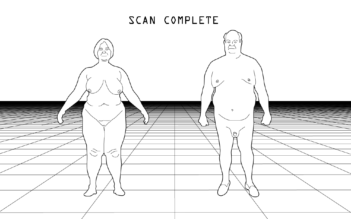 Figure 4: The mother and father are captured in virtual space.