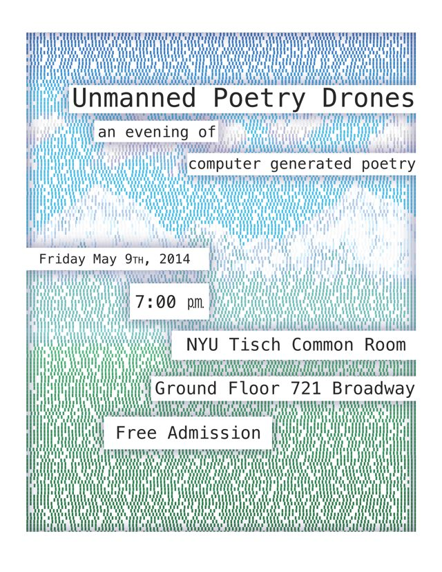 Unmanned Poetry Drones